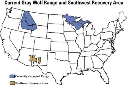 Wolf Where To See Wildlife - Maps of the location of wolves in the us